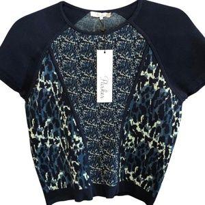 NWT Parker Mermaid short sleeve blue sweater